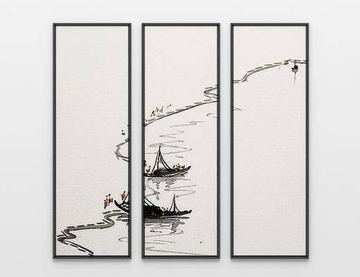 水墨意境框画, 风景画, 新中式