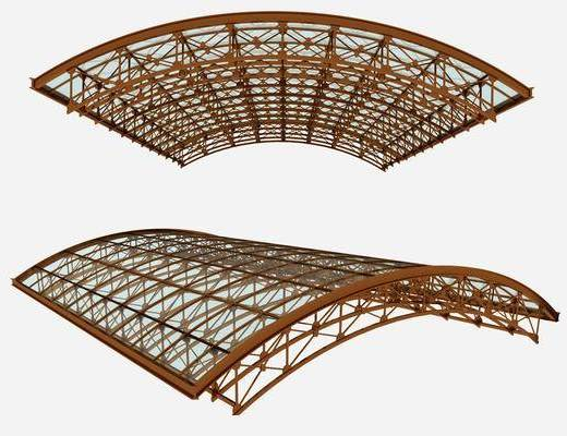 钢结构雨棚, 现代