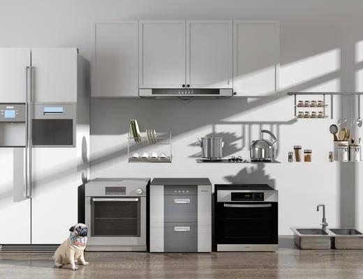 冰箱, 烤箱, 消毒柜, 燃气灶, 厨具组合