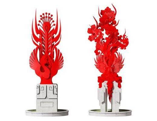 新中式, 雕塑, 摆件