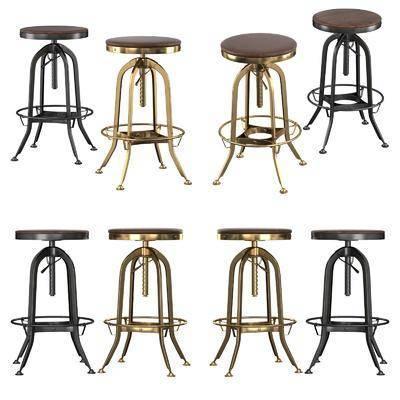 吧椅, 工业风吧椅, 凳, 单椅