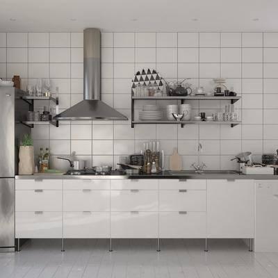 厨房, 厨具, 橱柜