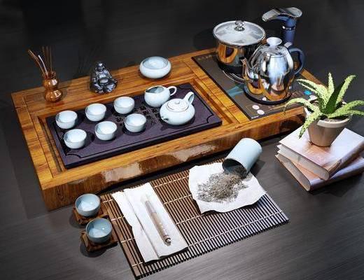 茶具, 摆件组合, 新中式