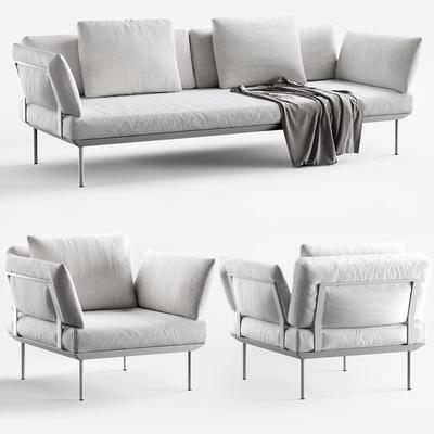 双人沙发, 多人沙发, 单人沙发, 现代
