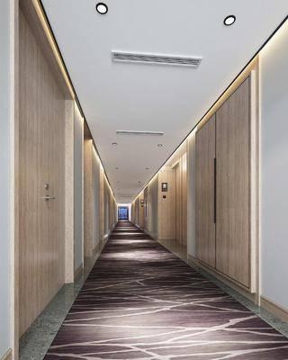 酒店過道, 走廊過道, 中式