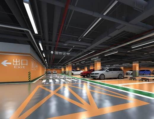 地下, 停车场, 车库