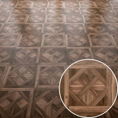 木拼花, 地板, 木板