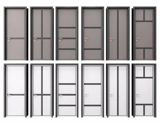 现代平开门, 平开门, 单开门