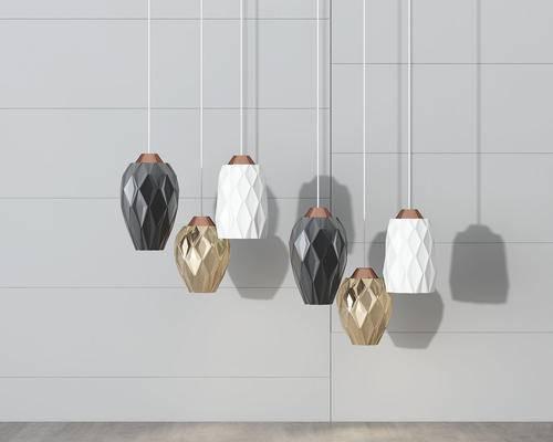 现代, 吊灯, 灯具组合