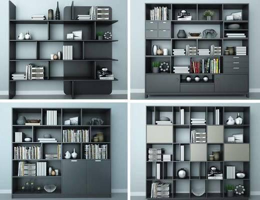 装饰柜, 置物柜, 书籍, 书柜