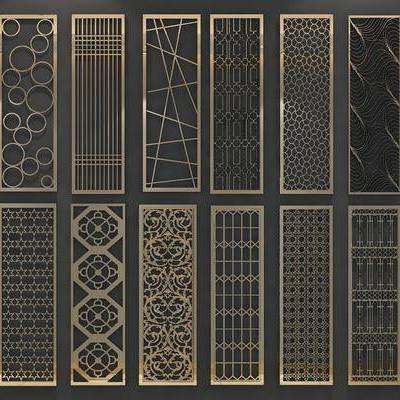 现代屏风隔断, 现代, 屏风, 金属屏风, 隔断