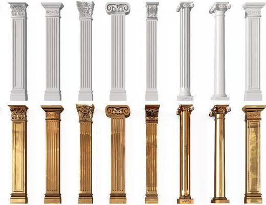 欧式罗马柱, 罗马柱, 柱子