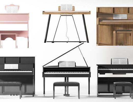 现代钢琴, 钢琴组合