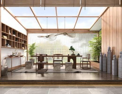 新中式茶室, 茶桌