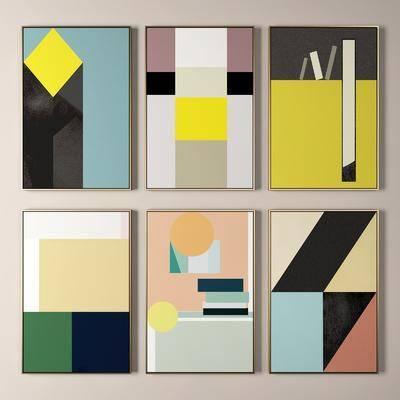 掛畫, 裝飾畫, 抽象畫
