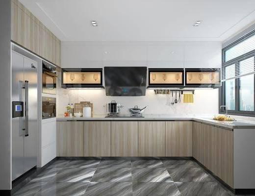 现代厨房, 厨具, 现代