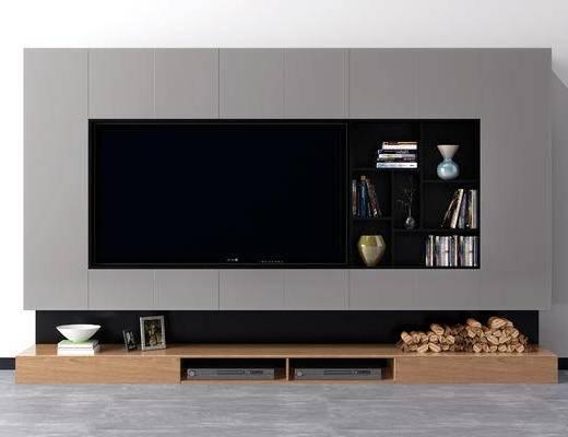 现代电视背景墙, 北欧电视背景墙, 现代电视柜, 北欧电视柜, 中式电视柜, 现代, 电视柜, 北欧, 陈设品, 木柴