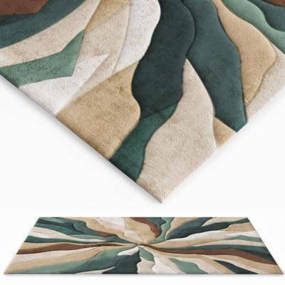 绒布地毯, 现代