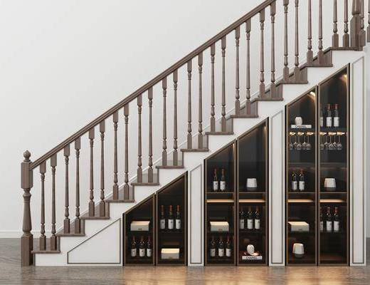 中式楼梯, 储物柜