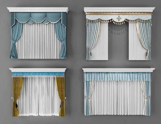 窗帘, 欧式窗帘, 欧式, 帘
