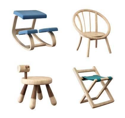 儿童矮凳, 单人椅, 凳子, 北欧