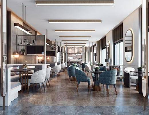 餐桌, 桌椅组合, 壁镜, 餐具组合