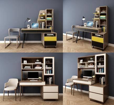 北欧书桌椅, 书桌椅, 桌椅组合