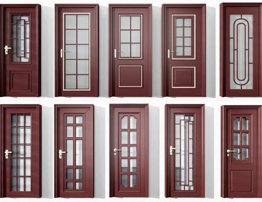 门组合, 平开门组合, 中式