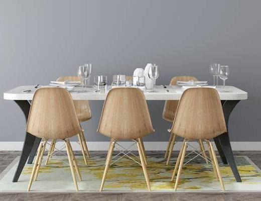 北欧餐桌, 单椅
