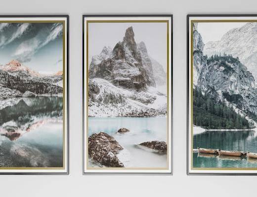 挂画, 山水画, 新中式