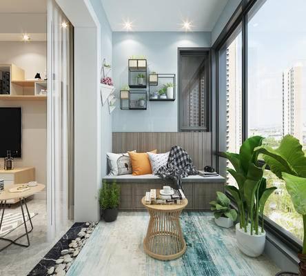 植物, 挂件, 休闲椅, 卡座, 墙饰