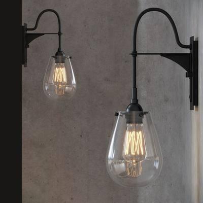 壁灯, 灯泡, 玻璃, 现代