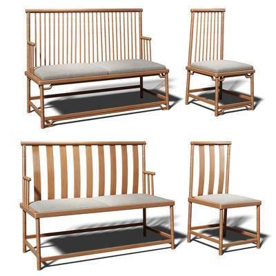 中式椅子, 中式单椅, 椅子, 单椅
