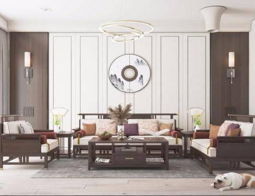 新中式, 客厅, 家装