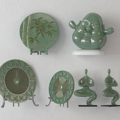 新中式, 玉器, 器皿, 摆件, 摆设品, 装饰品