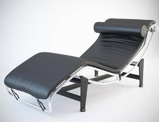 单椅, 现代椅, 皮革椅, 躺椅, 现代皮革躺椅, 现代