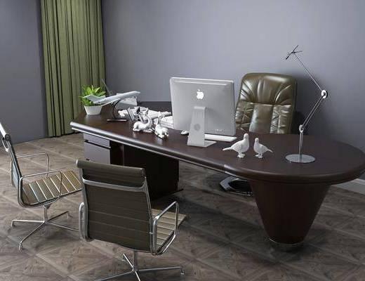現代辦公區, 辦公區, 桌椅組合, 辦公桌