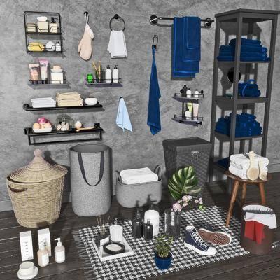 毛巾架, 编织筐, 日用品, 洗浴用品