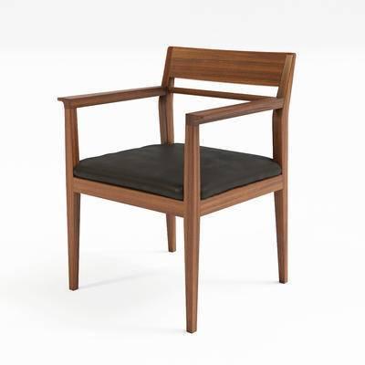 休闲椅, 餐椅, 实木休闲椅
