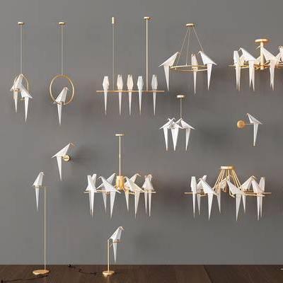现代吊灯, 现代壁灯, 现代台灯, 现代落地灯, 吊灯组合, 灯具组合, 现代