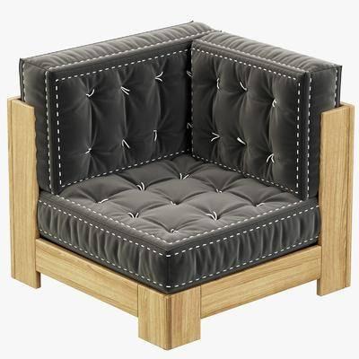 单人沙发, 转角沙发, 实木沙发, 现代, 现代沙发