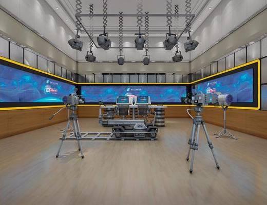 广播台, 摄像机, 现代