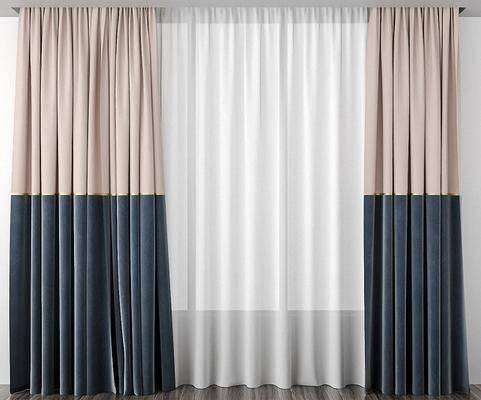 现代, 窗帘, 纱帘