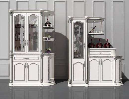 酒柜, 餐边酒柜, 实木酒柜, 欧式