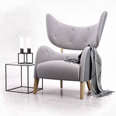 单椅, 休闲椅, 边几, 现代椅, 蜡烛台, 组合, 纯色椅, 现代