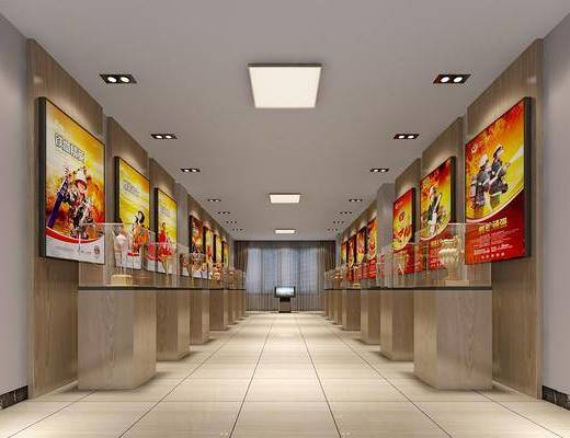现代展厅, 展台, 展柜