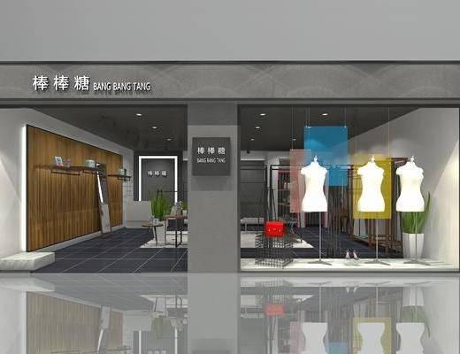 店铺, 模特, 衣架, 展示柜