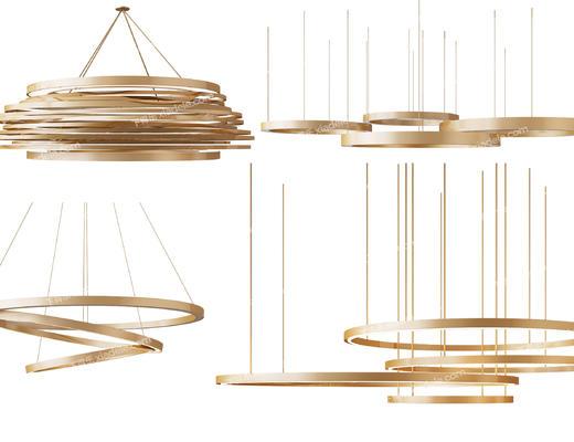 吊灯, 金属, 金属吊灯, 灯具, 灯