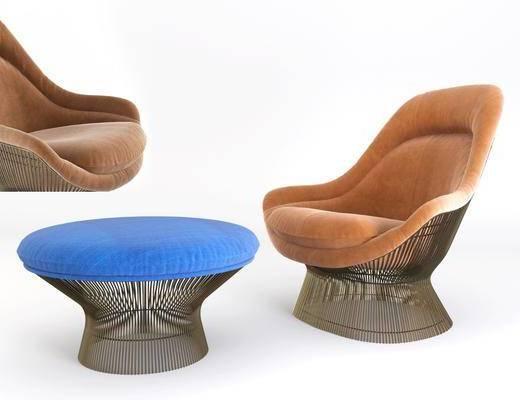 休闲椅, 单人沙发, 单人椅, 凳子, 现代