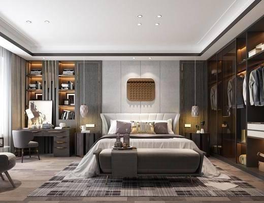 臥室, 床具組合, 衣柜服飾, 桌椅組合, 擺件組合, 書柜書籍, 現代